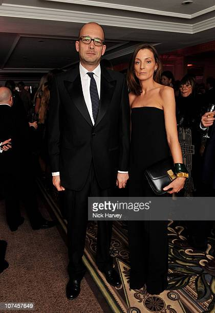 Max Wigram and designer Phoebe Philo attend the British Fashion Awards 2010 at The Savoy Theatre on December 7 2010 in London England