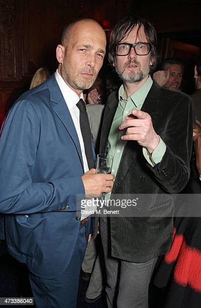 Max Wigram and Jarvis Cocker attend Sam McKnight's 60th Birthday Party at Tramp on May 14 2015 in London England