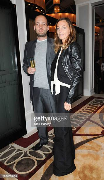 Max Wigram and Phoebe Philo attend Richard James' 15th anniversary party hosted by GQ editor Dylan Jones on April 29 2008 at The Lanesborough in...