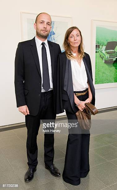 Max Wigram and Phoebe Philo attend the Richard Prince 'Continuation' Private View at the Serpentine Gallery on June 25 2008 in London England