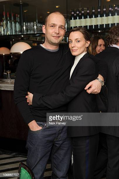 Max Wigram and Phoebe Philo attend Vogue's dinner hosted by Alexandra Shulman and Nick Jones at Cecconi's on February 6 2009 in London