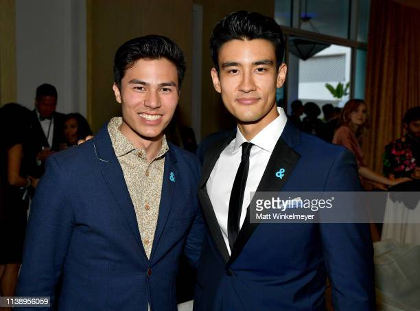Max Willems and Alex Landi attends the 30th Annual GLAAD Media Awards Los Angeles at The Beverly Hilton Hotel on March 28 2019 in Beverly Hills...