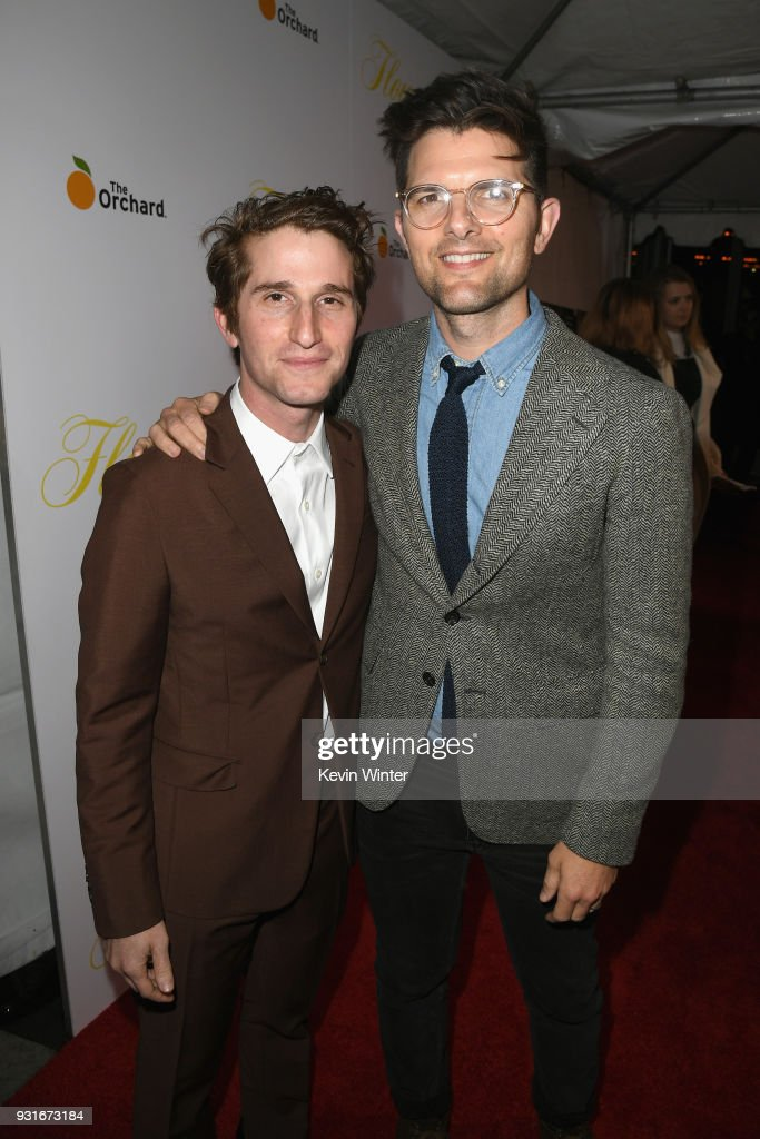 Max Winkler and Adam Scott attend the premiere of The Orchard's 'Flower' at ArcLight Cinemas on March 13, 2018 in Hollywood, California.
