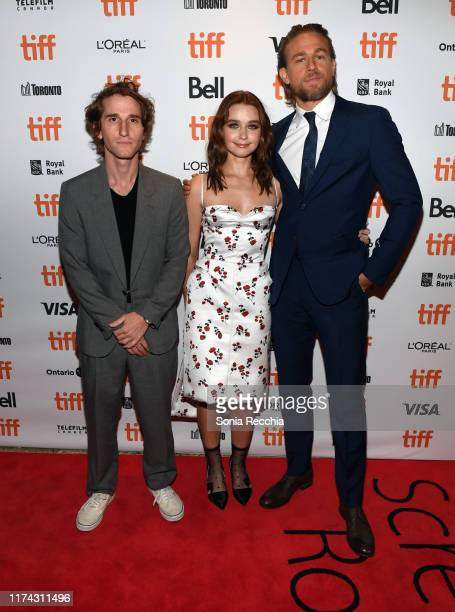 Max Winkler Jessica Barden and Charlie Hunnam attends the Jungleland photo call during the 2019 Toronto International Film Festival at Princess of...