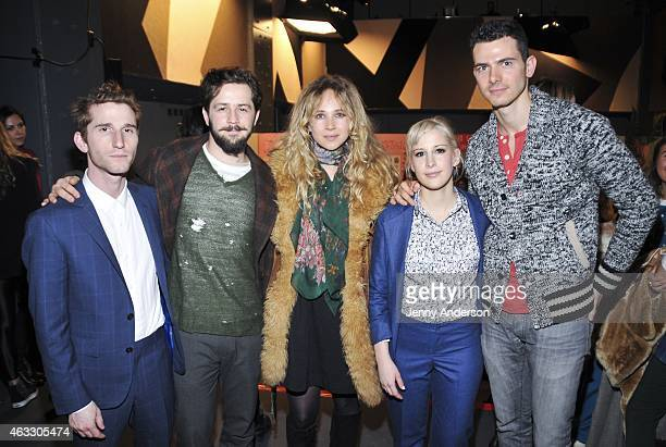 Max Winkler Michael Angarano Juno Temple Rachel Antonoff and Andy Snyder attend the Rachel Antonoff Presentation during MercedesBenz Fashion Week...