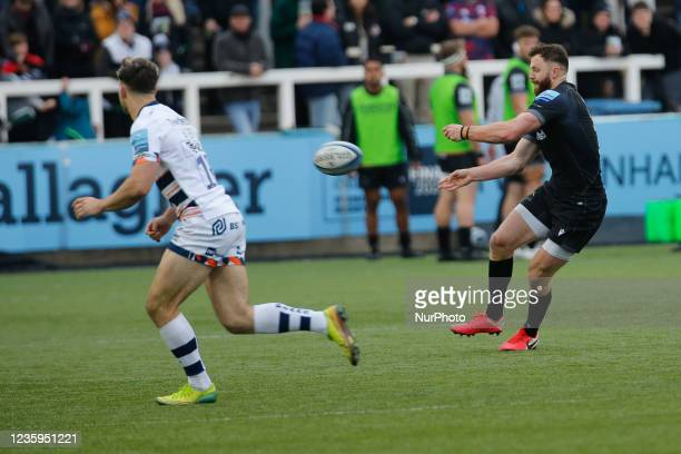 Max Wright of Newcastle Falcons in action during the Gallagher Premiership match between Newcastle Falcons and Bristol at Kingston Park, Newcastle on...