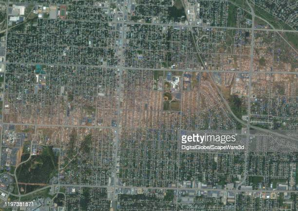 JOPLIN MISSOURI TORNADO MAY 29 2011 Maxar after satellite imagery of the damage path of the EF5 tornado that hit Joplin on May 22 2011 Please use...