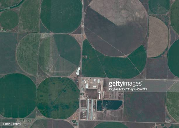 Maxar satellite imagery of a ranch outside of Jackson Idaho Please use Satellite image 2019 Maxar Technologies
