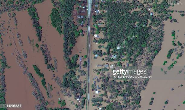 Maxar satellite imagery of isabella Street in Midland Michigan due to the Tittabawassee River flooding Please use Satellite image 2020 Maxar...