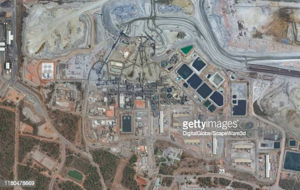 Maxar satellite imagery of the Kansanshi Mine Kansanshi mine is a large copper mine located in the NorthWestern Province of Zambia Please use...