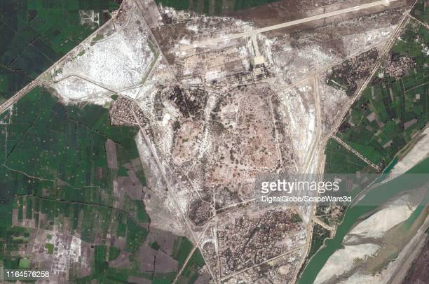 Maxar satellite imagery of the Mohenjo Daro in Pakistan Please use Satellite image 2019 Maxar Technologies