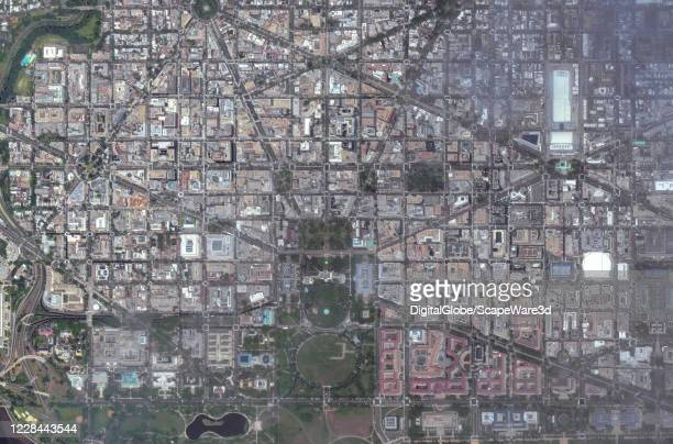 Maxar satellite imagery of Washington DC Please use Satellite image 2020 Maxar Technologies