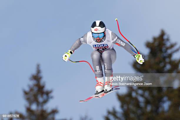 Maxence Muzaton of France competes during the Audi FIS Alpine Ski World Cup Finals Men's and Women's Downhill on March 14 2018 in Are Sweden