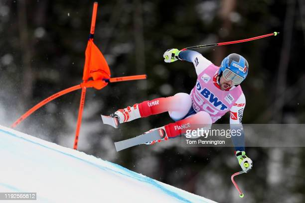Maxence Muzaton of France competes on the Birds of Prey course during the Audi FIS Alpine Ski World Cup Men's Downhill on December 07 2019 in Beaver...
