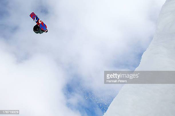 Maxence Parrot of Canada competes during the FIS Snowboard Slopestyle World Cup qualifying during day four of the Winter Games NZ at Cardrona Alpine...