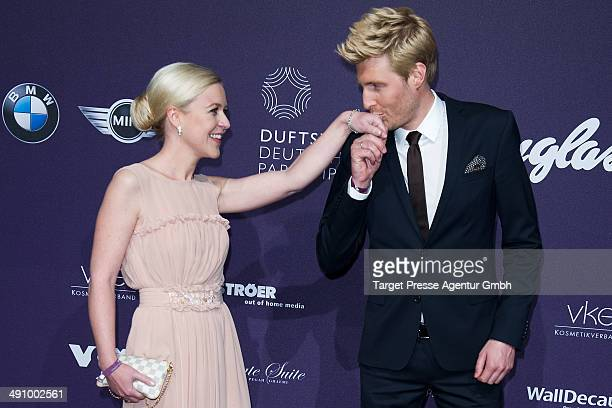 Maxi Arland and Andrea Arland attend the Duftstars Awards 2014 at arena Berlin on May 15 2014 in Berlin Germany