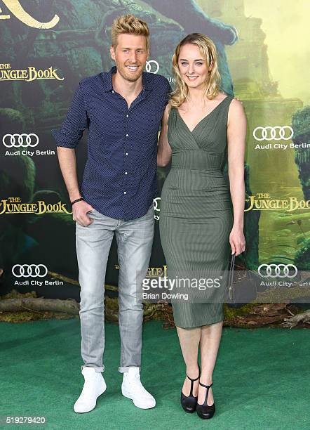 Maxi Arland and AnneCatrin Maerzke arrive at Disney's 'The Jungle Book' premiere at the Zoo Palast on April 5 2016 in Berlin Germany