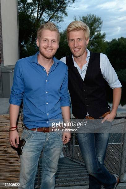 Maxi Arland and Hansi Arland attend the 20 Years Maxi Arland Charity Concert for SOSKinderdorf eV at Optikpark on August 3 2013 in Rathenow Germany