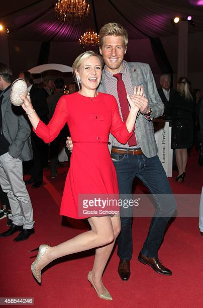 Maxi Arland and his wife Andrea Arland attend the Cotton Club Dinnershow Premiere at Ungerer Bad on November 6 2014 in Munich Germany