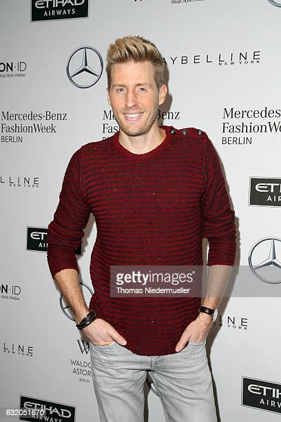Maxi Arland attends the Ewa Herzog show during the MercedesBenz Fashion Week Berlin A/W 2017 at Kaufhaus Jandorf on January 19 2017 in Berlin Germany