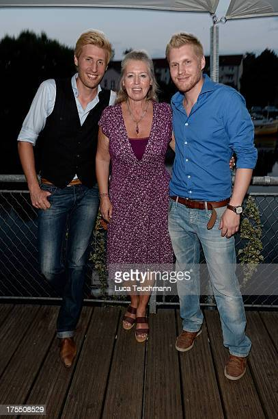 Maxi Arland Dorothea Zepmeisel and Hansi Arland attend the 20 Years Maxi Arland Charity Concert for SOSKinderdorf eV at Optikpark on August 3 2013 in...