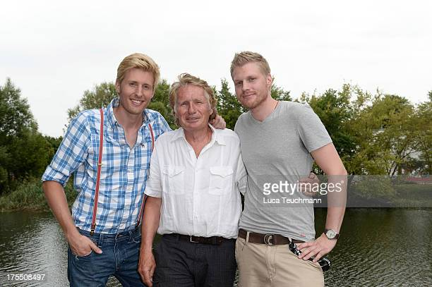 Maxi Arland Henry Arland and Hansi Arland attend the 20 Years Maxi Arland Charity Concert for SOSKinderdorf eV at Optikpark on August 3 2013 in...