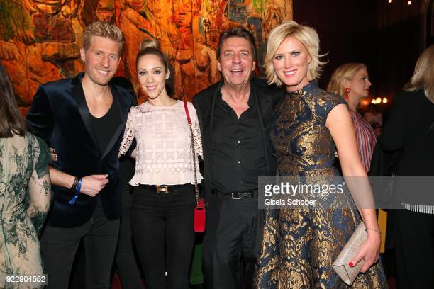 Maxi Arland Melanie Wolf and her husband Peter Wolf and Kamilla Senjo during the BUNTE BMW Festival Night 2018 on the occasion of the 68th Berlinale...
