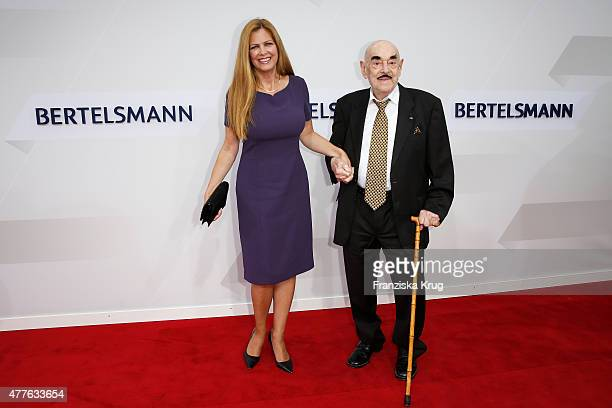 Maxi Biewer and Artur Brauner attend the Bertelsmann Summer Party on June 18 2015 in Berlin Germany