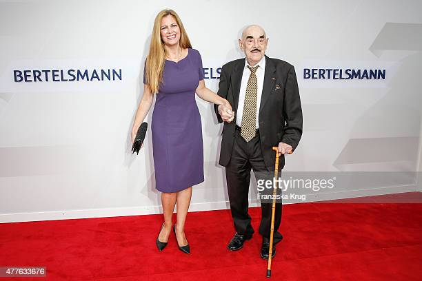 Maxi Biewer and Artur Brauner attend the Bertelsmann Summer Party on June 18, 2015 in Berlin, Germany.