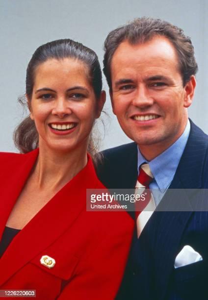 Maxi Biewer deutsche Fernsehmoderatorin mit Partner Wolfram Kons Deutschland um 1994