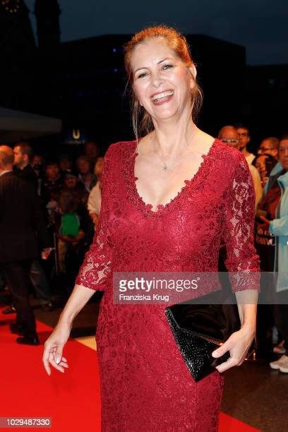 Maxi Biewer during the 100th birthday celebration gala for Artur Brauner at Zoo Palast on September 8, 2018 in Berlin, Germany. Artur Brauner is a...