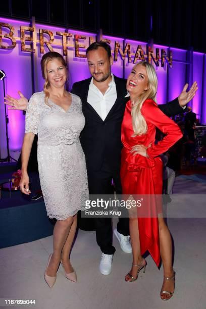 Maxi Biewer Felix Moese and Jennifer Knaeble during the Bertelsmann Party 2019 at Bertelsmann Repraesentanz on September 12 2019 in Berlin Germany