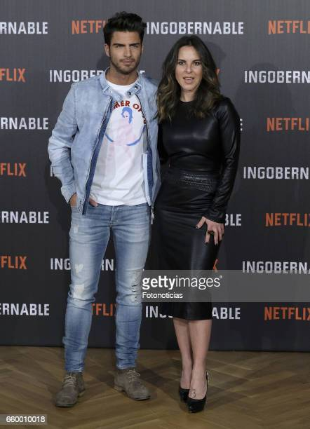 Maxi Iglesias and Kate del Castillo attend a photocall for 'Ingobernable' at the Ritz Hotel on March 29 2017 in Madrid Spain