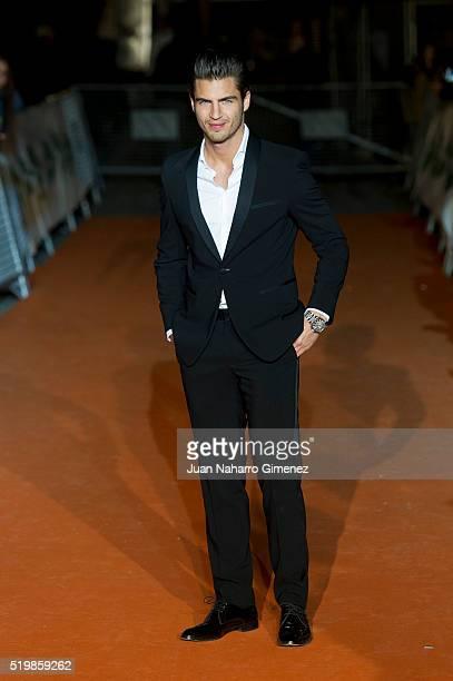 Maxi Iglesias attends 'La Embajada' premiere during FesTVal at Teatro Circo on April 8 2016 in Albacete Spain