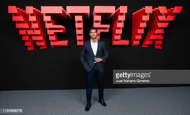 Maxi Iglesias attends the red carpet during the Netflix presentation party at the Invernadero del Palacio de Cristal de la Arganzuela on April 4 2019...
