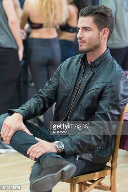 Maxi Iglesias during the rehearsal of the musical of the bodyguard In Spain will premiere on September 28 2017 at the Teatro Coliseum in Madrid...