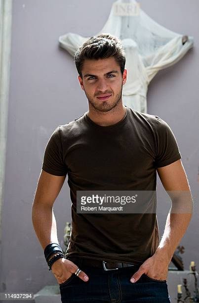 Maxi Iglesias poses during a portrait session on the set of 'XP3D' on May 30 2011 in Barcelona Spain