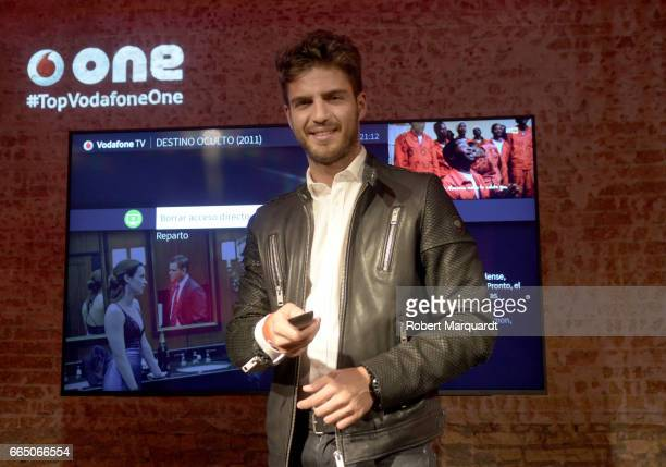 Maxi Iglesias presents the Vodafone One TV system at the Fabrica Mortiz on April 5 2017 in Barcelona Spain