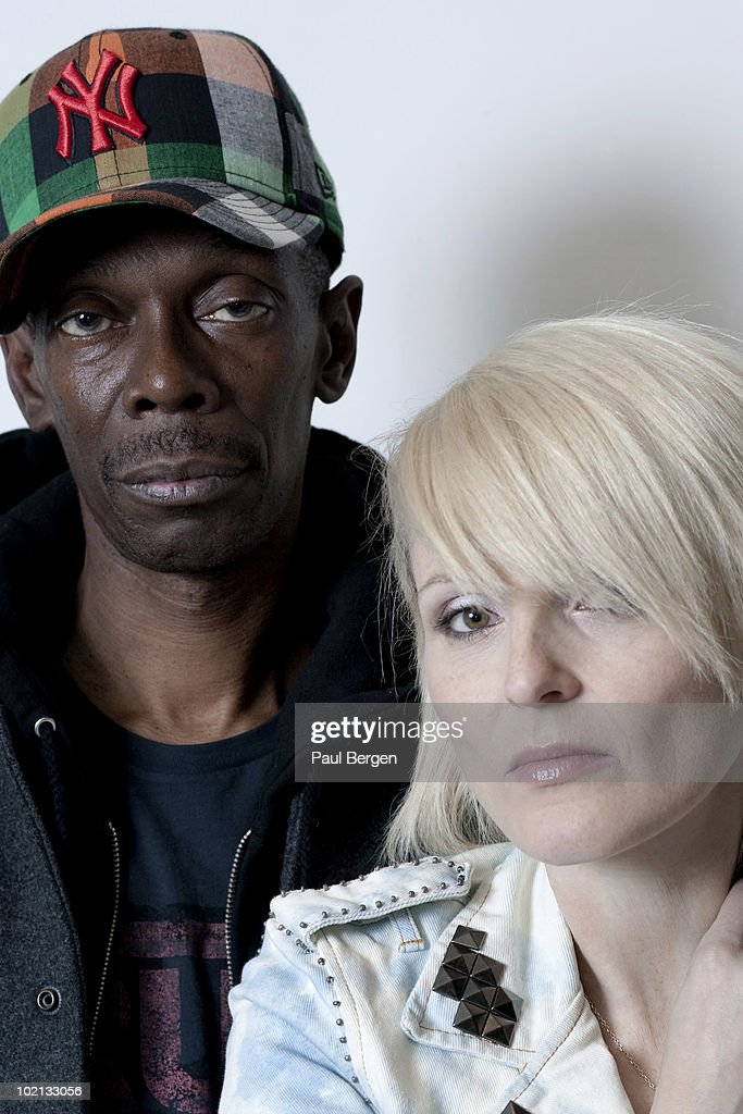 Maxi Jazz and Sister Bliss from Faithless posed in Amsterdam, Netherlands on May 07 2010