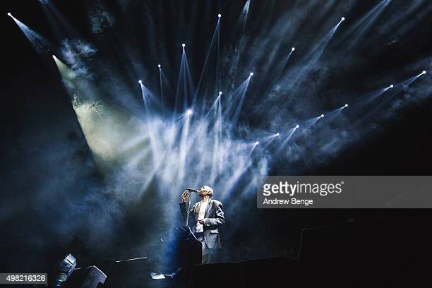 Maxi Jazz of Faithless performs on stage at Alexandra Palace on November 21, 2015 in London, England.