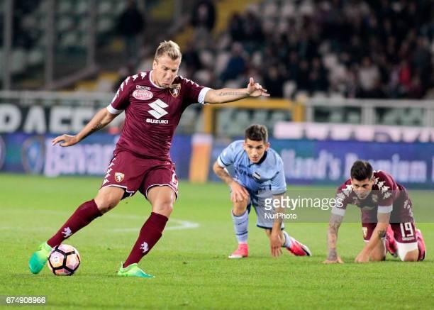 Maxi Lopez during Serie A match between Torino v Sampdoria in Turin on April 29 2016