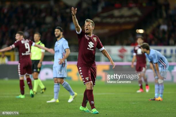 Maxi Lopez of Torino FC in action during the Serie A football match between Torino FC and Uc Sampdoria The match ended in a 11 draw