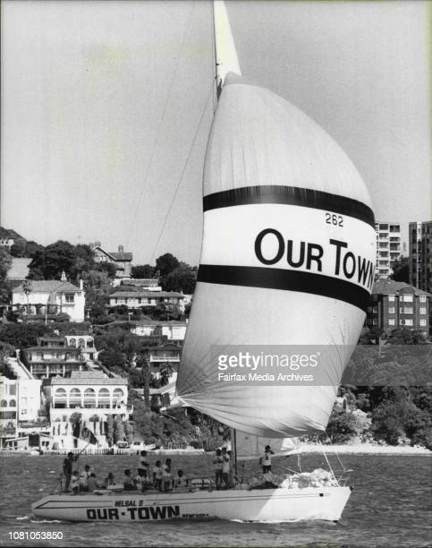 Maxi yacht race on Sydney harbour today won by NSW sloop ApolloOur town Newcastle 262 sloop NSW December 16 1981