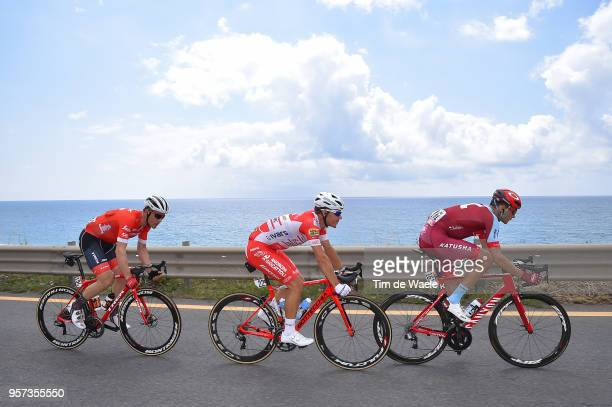 Maxim Belkov of Rusia and Team Katusha-Alpecin / Davide Ballerini of Italy and Team Androni Giocattoli-Sidermec / Markel Irizar Aranburu of Spain and...