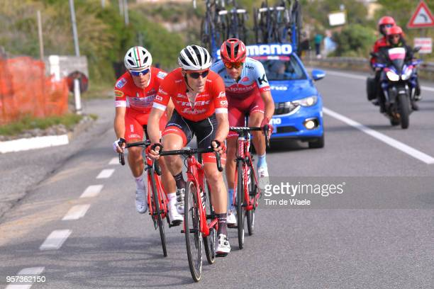 Maxim Belkov of Rusia and Team Katusha-Alpecin / Markel Irizar Aranburu of Spain and Team Trek-Segafredo / Davide Ballerini of Italy and Team Androni...