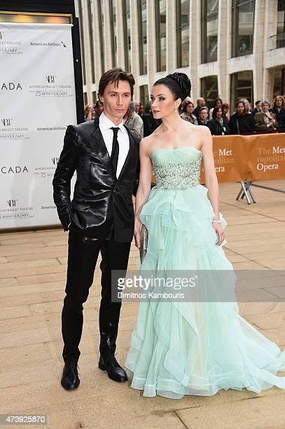 Maxim Beloserkovsky ABT Alum and Irina Dvorovenko ABT Alum attends the American Ballet Theatre's 75th Anniversary Diamond Jubilee Spring Gala at The...