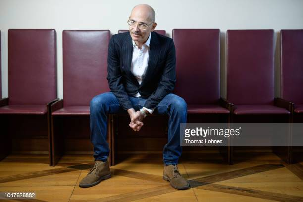 Maxim Biller poses for a photo before the awards ceremony for the German Book Prize in the Roemer city hall on October 8 2018 in Frankfurt am Main...