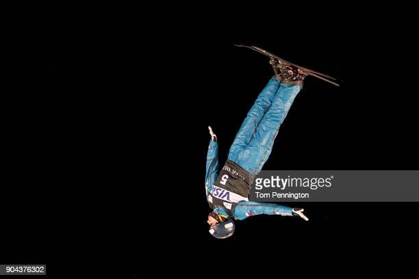 Maxim Burov of Russia competes during the Men's Aerials Finals during the 2018 FIS Freestyle Ski World Cup at Deer Valley Resort on January 12 2018...