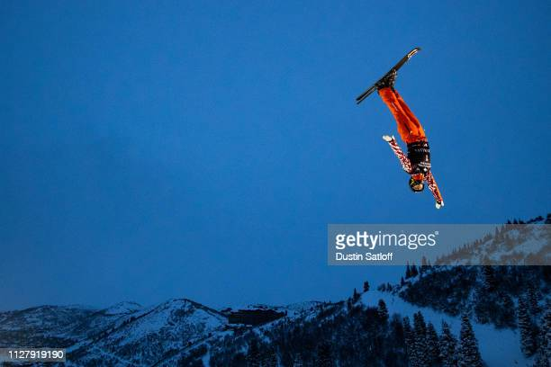 Maxim Burov of Russia trains before the start of the Men's Aerials Final during the FIS Freestyle Skiing World Championships on February 6 2019 at...