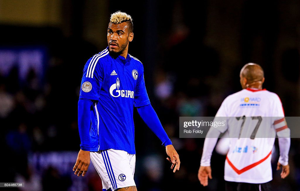 Maxim Choupo-Moting #13 of FC Schalke 04 looks on during the match against the Fort Lauderdale Strikers at the ESPN Wide World of Sports Complex on January 10, 2016 in Kissimmee, Florida.